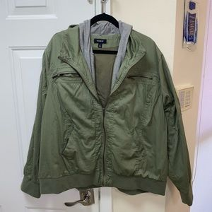 Torrid Plus size Green hooded Jacket